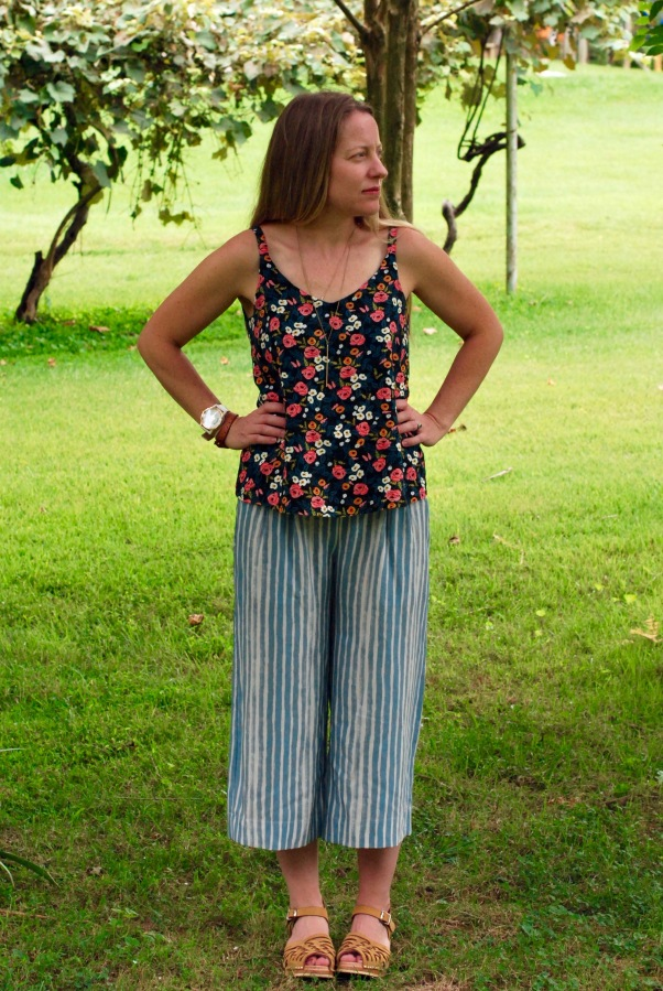 Emerson Crop Pants; are stripes and florals really athing?
